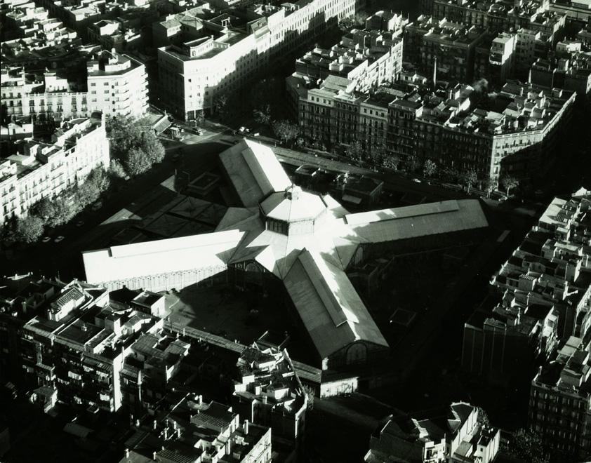 Vista aèria del Mercat de Sant Antoni (1960)