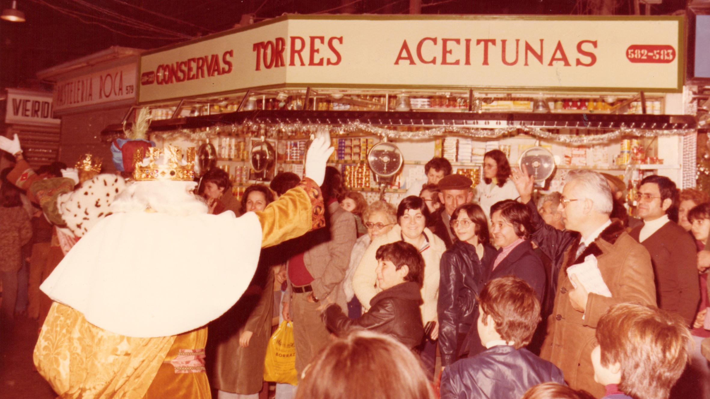 Els Reis d'Orient visiten el Mercat de Sant Antoni (1979)